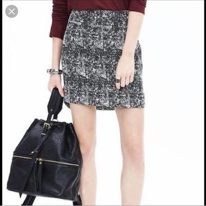 NWT Banana 🍌 Republic Tweed Mini Skirt